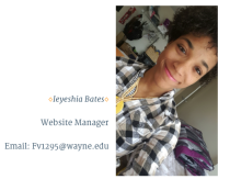 Meet Ieyshia, our web designer! She is a senior studying psychology and peace and conflict studies. She is passionate about social justice, equality, women rights, and anti-bullying and inclusion! She works for the Center for Peace and Conflicts. On top of it all, she is also an tutor for ESL students. When she isn't hanging out with friends, you can catch her watching YouTube videos on DIYs, music, and poetry or playing her guitar. Above all she believes the world will change when we focus on loving and respecting others individuality ❤️